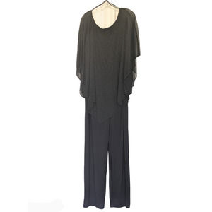 Marina Cape Jumpsuit Black Size 16W
